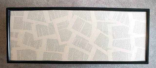 Book Page Art framed book pages